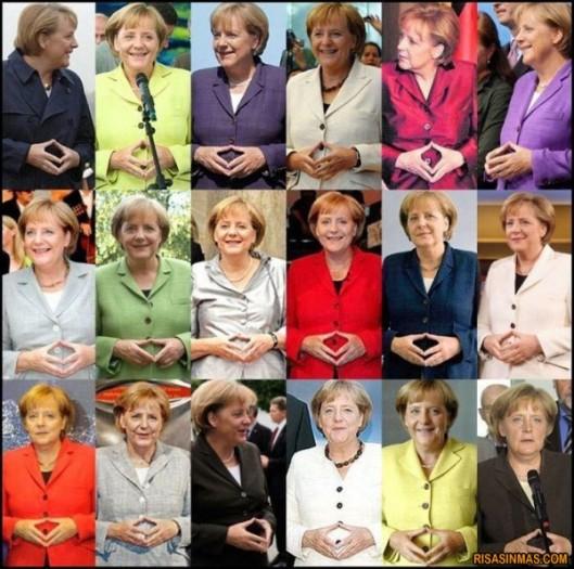 Pantone de colores con Merkel en el mismo gesto