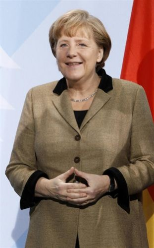 Angela Merkel de marrón