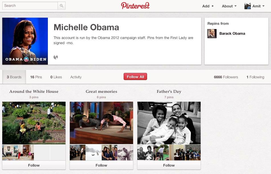 Primera Dama en Pinterest.