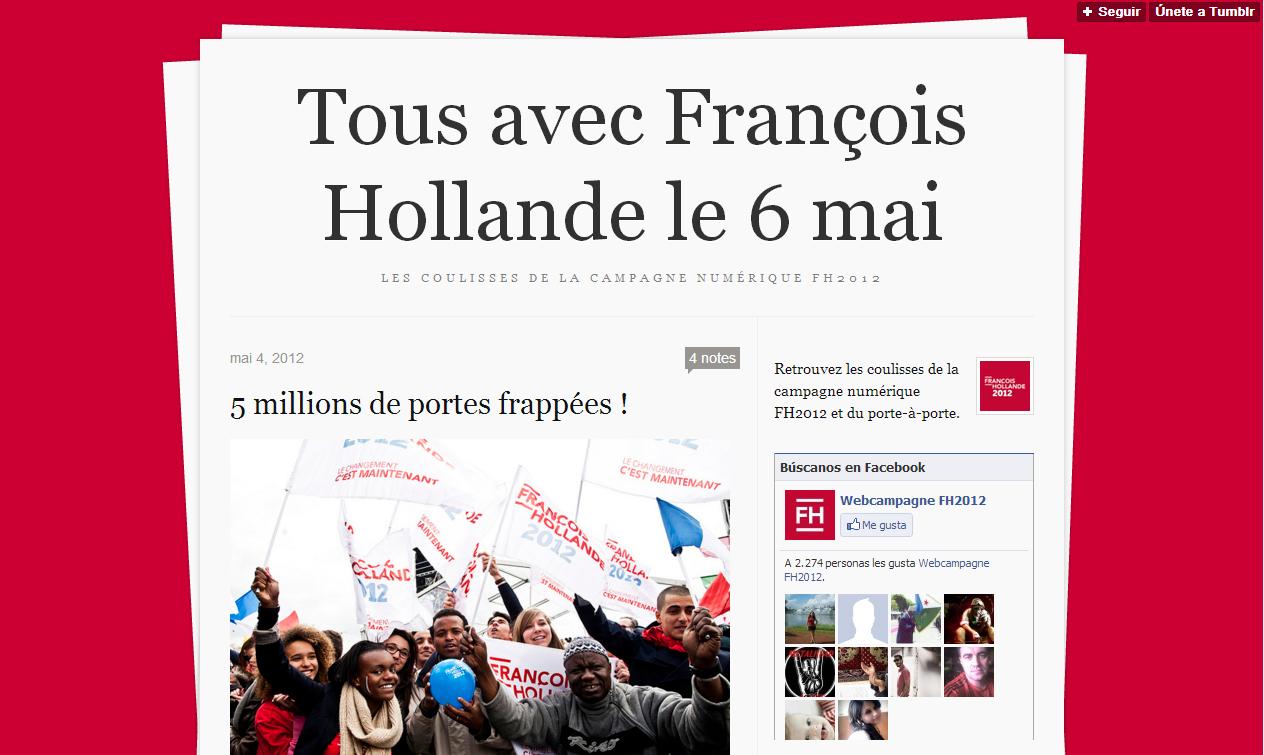 Tous avec François Hollande le 6 mai