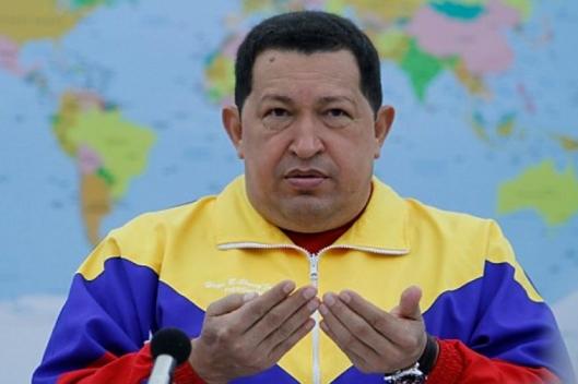 Chávez con el chándal de Venezuela.