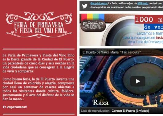 Feria de Primavera y Fiesta del Vino Fino en Facebook.