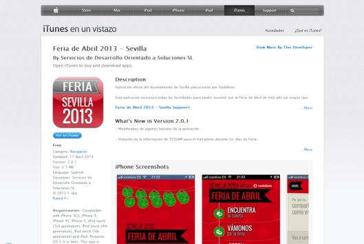 App Feria de Sevilla 2013