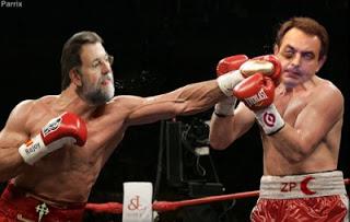 Boxeo Rajoy-Zapatero.