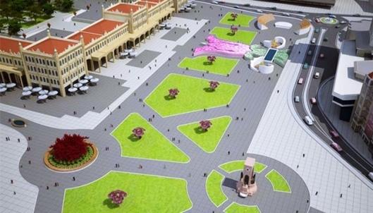 Infografía del futuro Parque Gezi.