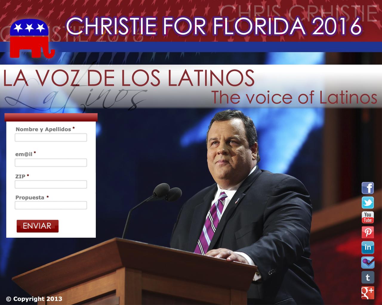 Mi campaña para Chris Christie gana el Certamen Promesas Electorales