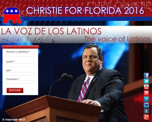 Diseño para la campaña de Christie