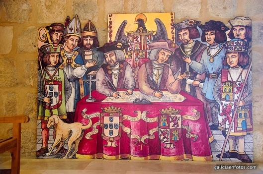 Cuadro del Tratado de Tordesillas.