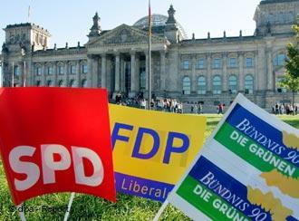 Badneras del SPF, FDP y Los Verdes.
