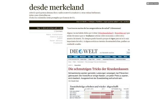 Blog sobre lo que dice la prensa alemana.