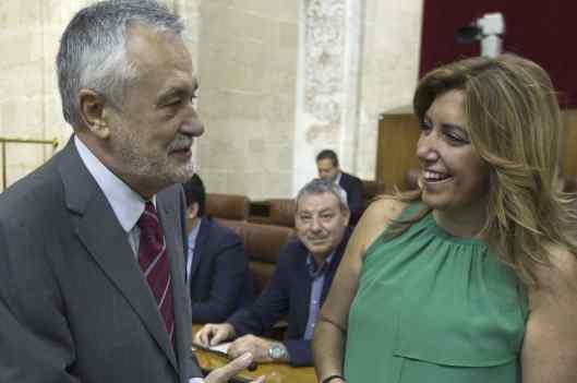 El secretario genral del PSOE-A junto a la vicesecretaria.