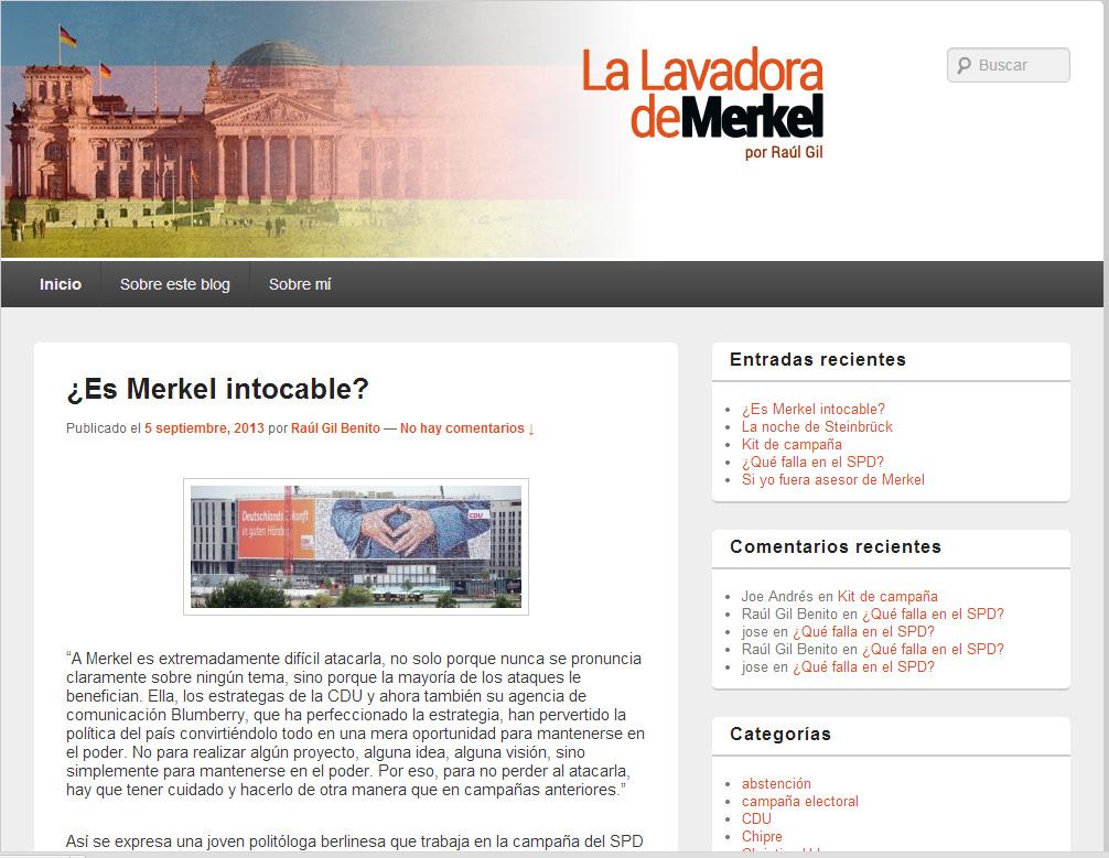Blog sobre comunicación política en Alemania.