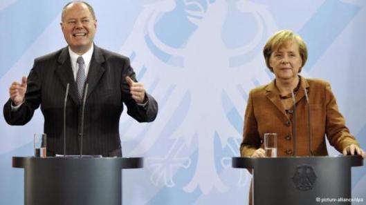 Debate Electoral entre Steinbrück y Merkel.