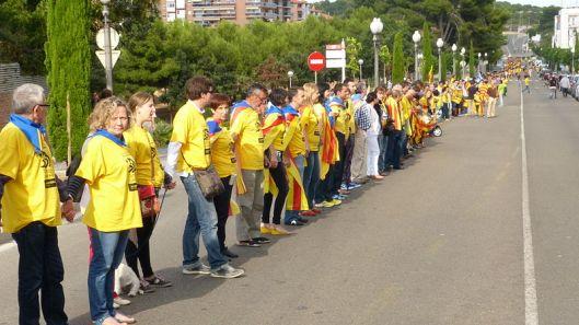Cadena humana por la independencia de Cataluña-