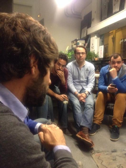 Fede Durán durante el encuentro.