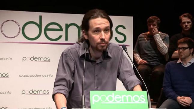 Pablos Iglesias en una comparecencia de 'Podemos'.