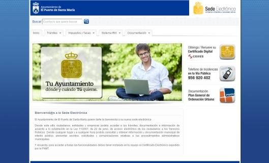 Sede Electrónica Municipal del Ayuntamiento de El Puerto