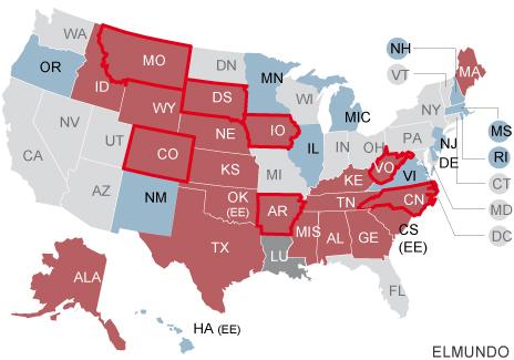 Mapa electoral USA