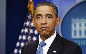 El presidente de Estados Unidos, con gesto de extrañeza.
