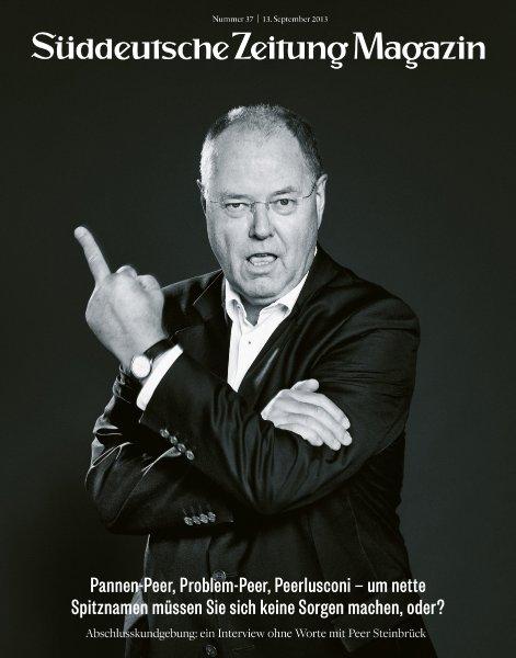 Peer Steinbrück auf Titel des SZ-Magazins