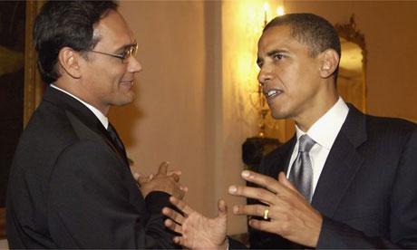Obama y Jimi Smitts.