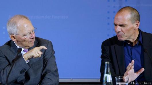 ministros de Economía de Grecia y Alemania