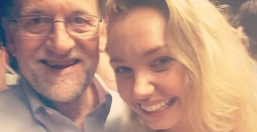 Rajoy e Isabelle Wright