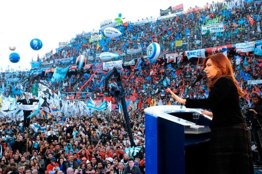 Mitin de CFK