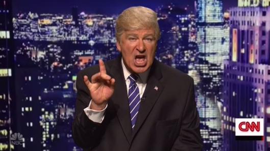 Alec Baldwin disfrazado de Trump