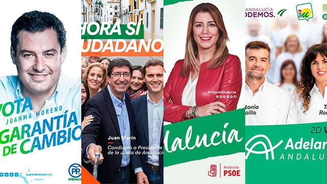 Humor y colores para analizar las campaña andaluza